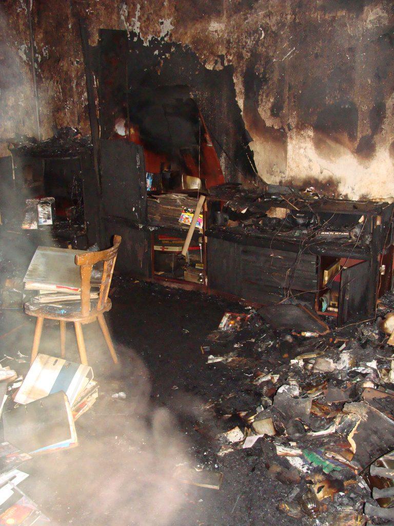 Schadenbeispiel Brand im Wohnzimmer