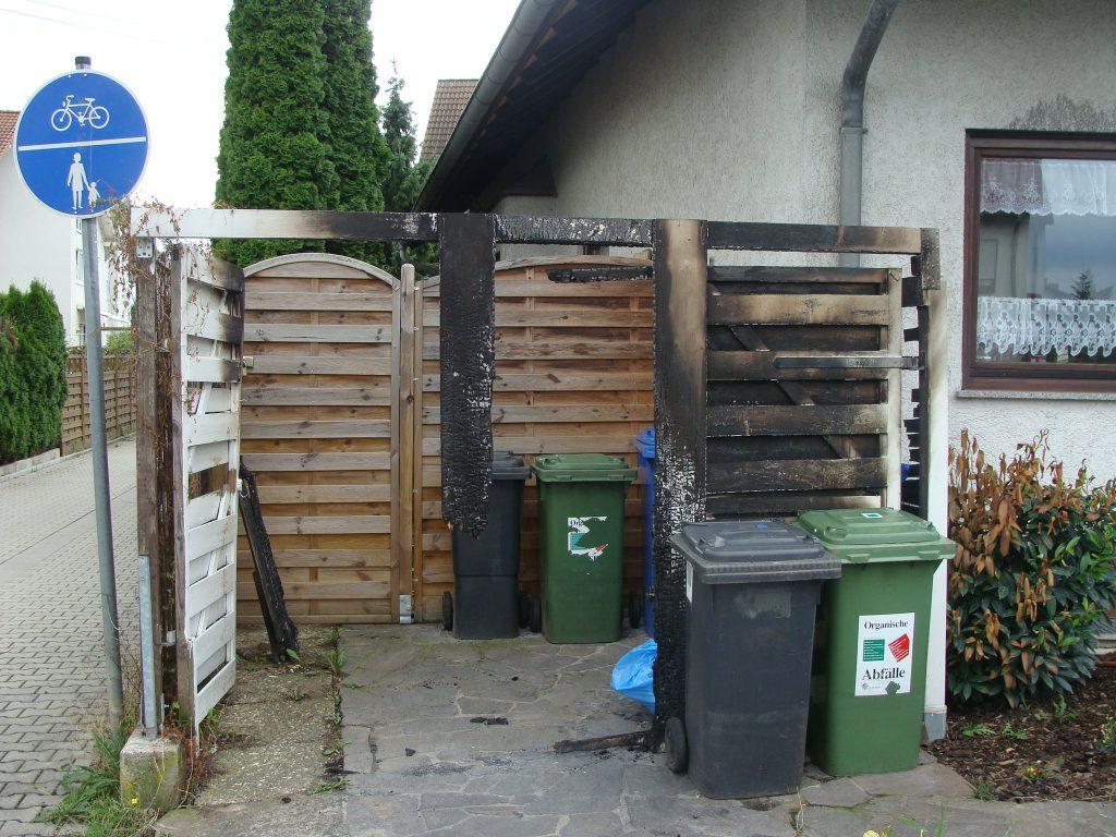 Schadenbeispiel Brand von Mülltonnen